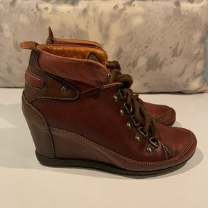 GORGEOUS PIKALINOS AMSTERDAM ANKLE WEDGE BOOTS 7